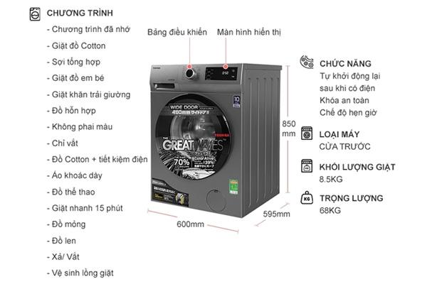 Máy giặt Toshiba TW-BK95S3V(SK)
