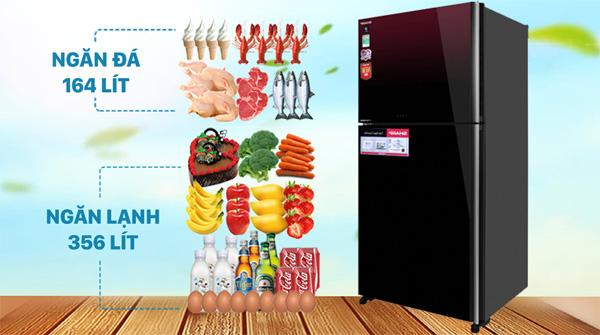 Tủ lạnh Sharp Inverter 520 lít SJ-XP570PG-MR Mới 2021