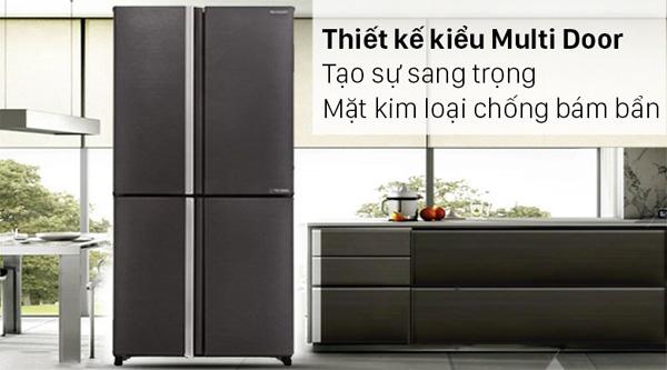 Tủ lạnh Sharp Inverter 572 lít SJ-FX640V-SL Mới 2021