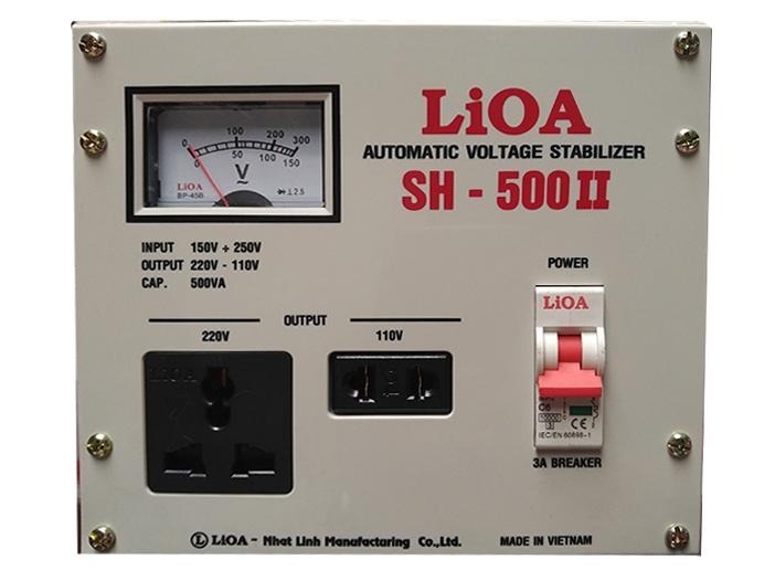Ổn áp 1 pha Lioa 500VA SH 500II