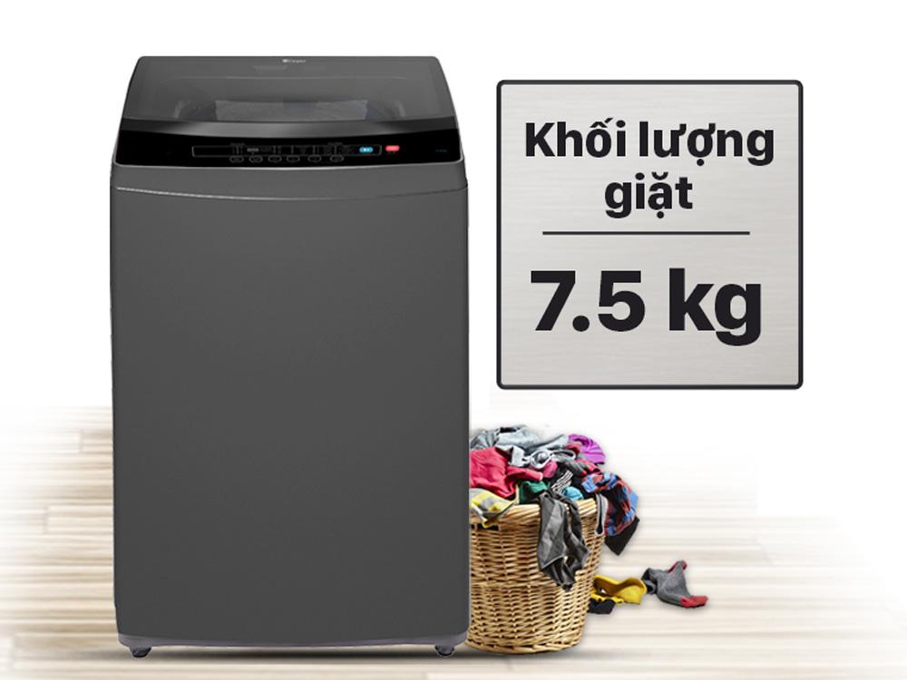 Khối lượng giặt là 7.5kg
