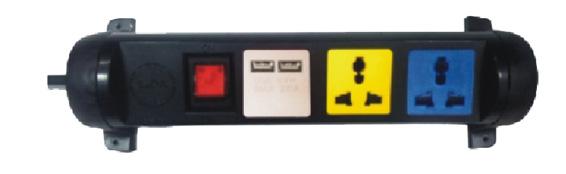 Hình ảnh ổ xoay kéo dài đa năng LiOA 3D32N2XUSB (Có 2 cổng sạc USB)