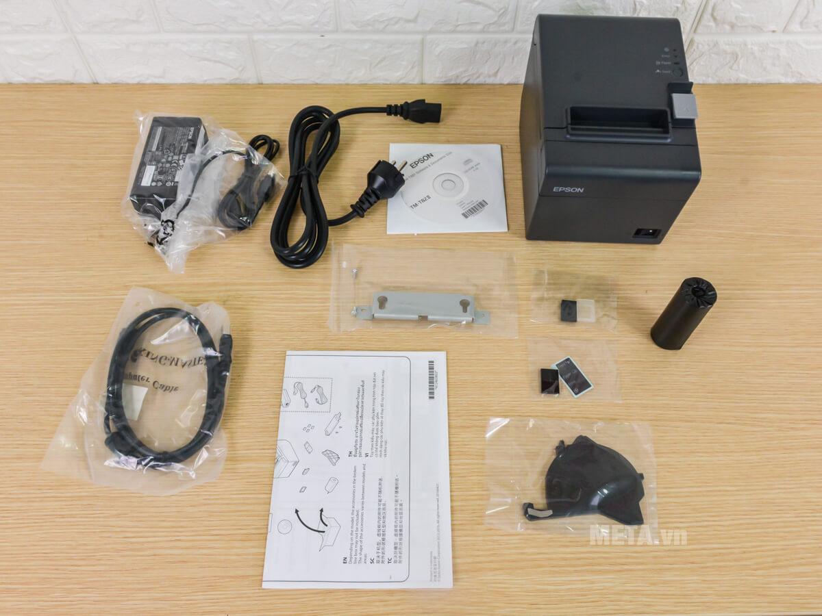 Bộ sản phẩm đầy đủ của máy in hóa đơn Espon TM-T82II