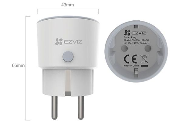 Ổ cắm thông minh Wifi điều khiển bằng giọng nói có thống kê điện tiêu thụ EZVIZ CS-T30-10B