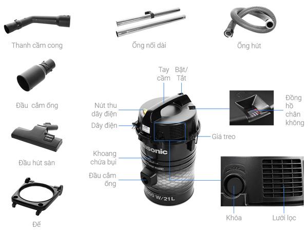 Hình ảnh máy hút bụi công nghiệp Panasonic MC-YL637SN49