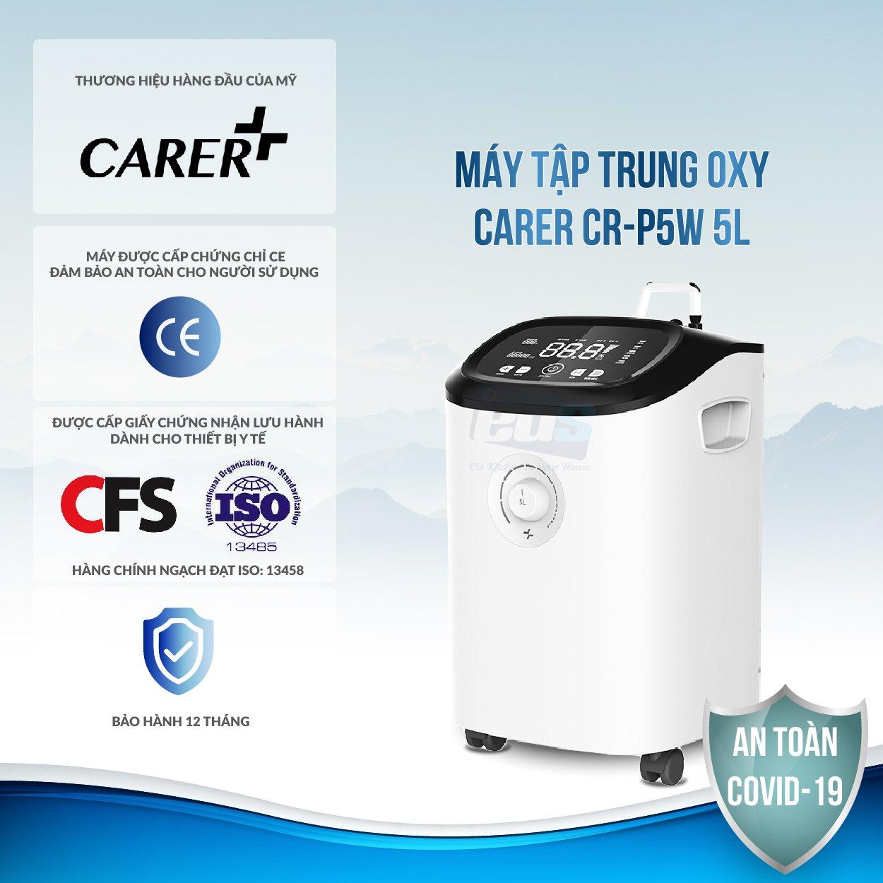 Máy được cấp chứng chỉ CE đảm bảo an toàn cho sức khỏe
