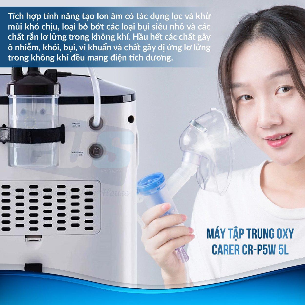Máy có chức năng tạo ion âm giúp lọc và khử mùi khó chịu