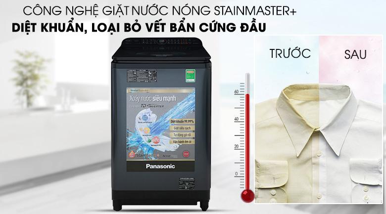 Công nghệ giặt nóng StainMaster+ đánh bay mọi vết bẩn