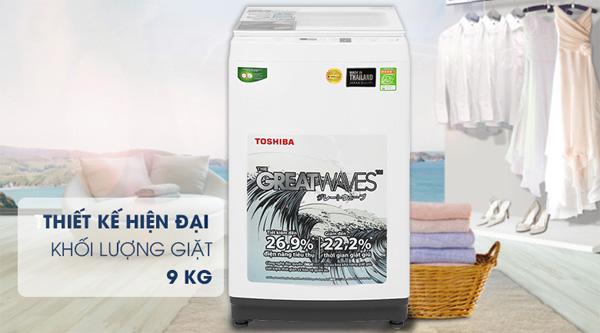 Máy giặt lồng đứng 9kg Toshiba AW-K1000FV(WW)