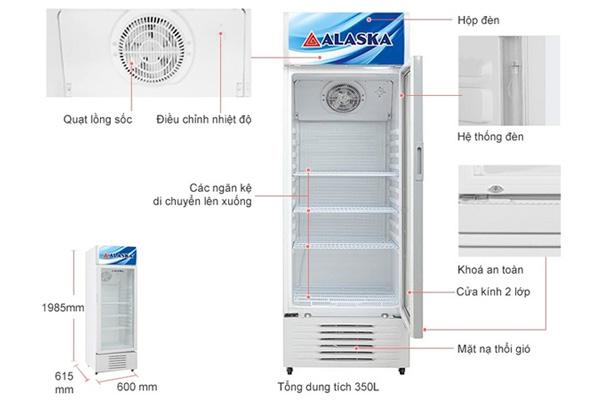 Tủ mát Alaska 300 lít LC-533H