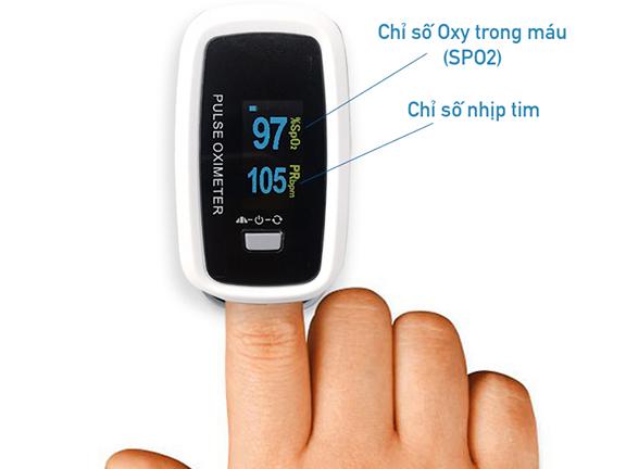 Màn hình máy đo nồng độ oxy