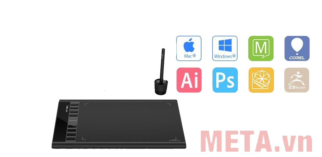 XP-Pen Star 03 tương thích với các ứng dụng phần mềm thiết kế đồ họa