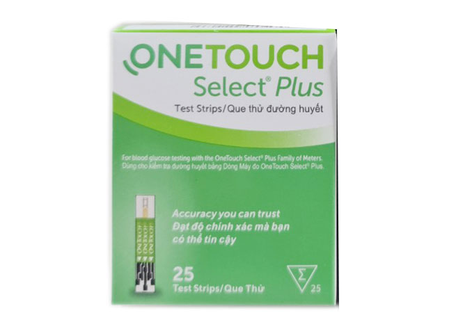 Que thử đường huyết One Touch Select Plus Simple (hộp 25 que)