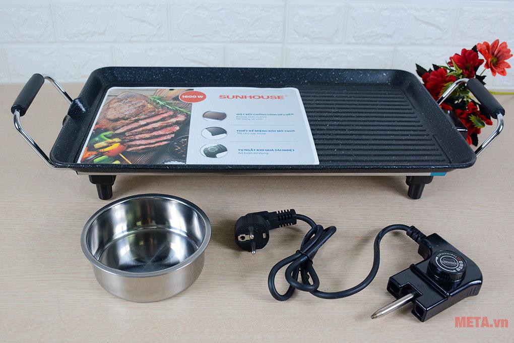 Trọn bộ bếp nướng điện Sunhouse SHD4600