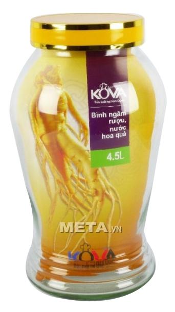 Bình ngâm rượu, nước hoa quả Kova 4,5 lít BNR4.5 dùng ngâm rượu sâm và nước hoa quả.