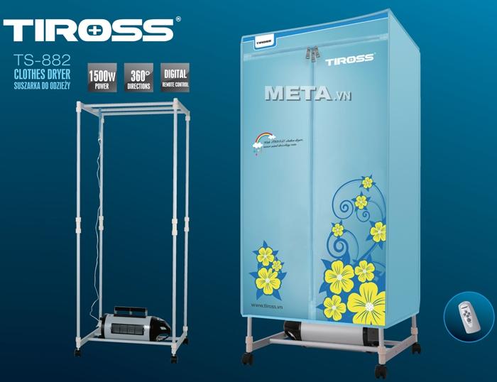 Tủ sấy quần áo Tiross TS-882 (1500W, có điều khiển từ xa)