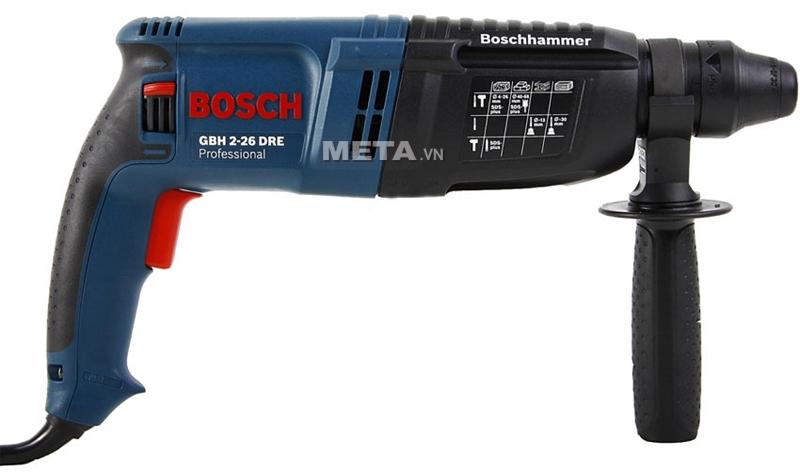 Máy khoan Bosch GBH 2-26 DRE có thể khoan bê tông, khoan thép, khoan gỗ