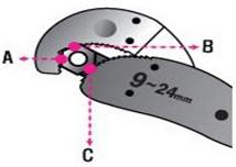 Cờ lê đa năng Magic Wrench WR-6000 thao tác trên ốc lục giác