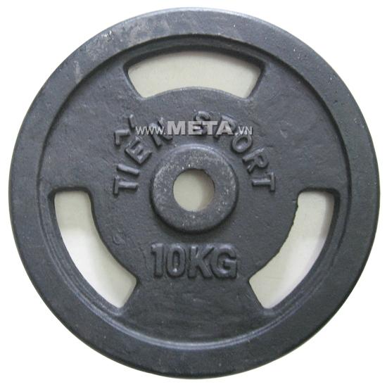 Tạ đĩa lỗ sắt sơn tĩnh điện 10kg