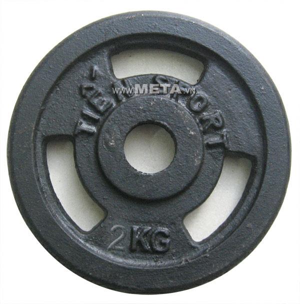 Tạ đĩa lỗ sắt sơn tĩnh điện 2kg