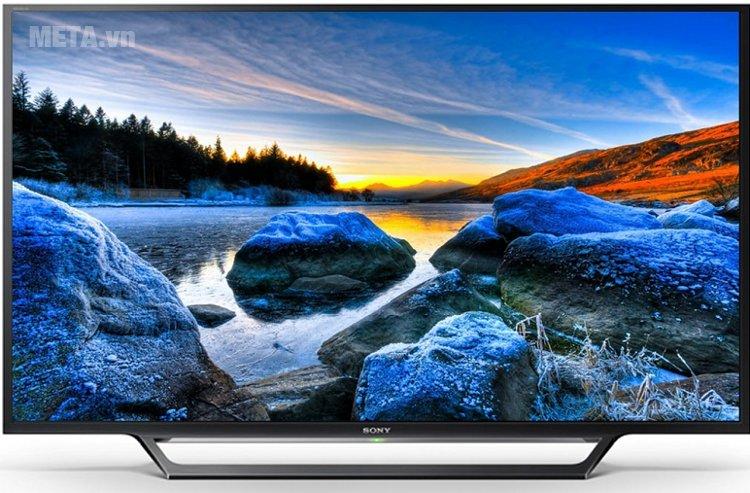 Tivi Sony 40 inch 40W6540D sở hữu vóc dáng thanh mảnh, sang trọng.