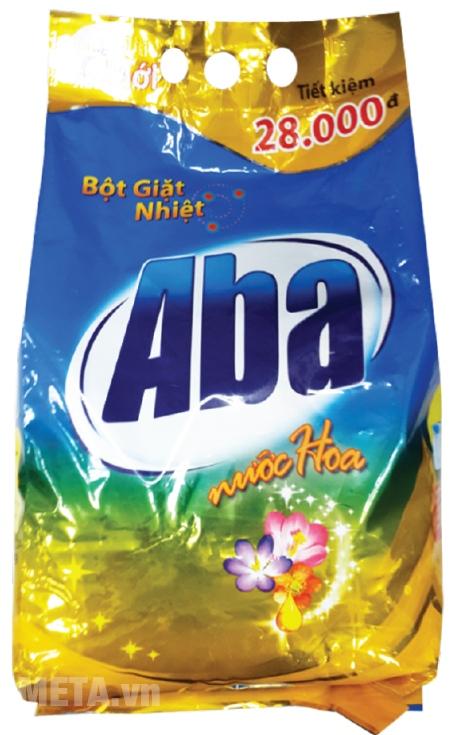 Bột giặt nhiệt Aba - Nước hoa 4.1kg được thiết kế với bao bì có tay cầm tiện lợi.
