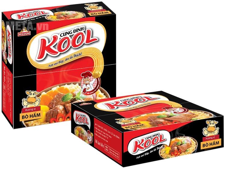 Mì Cung Đình Kool vị bò hầm với nước cốt đậm đà khiến người dùng khó cưỡng lại.