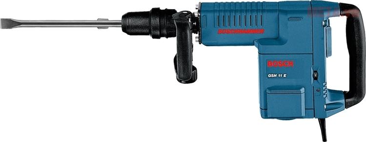 Máy đục bê tông Bosch GSH 11E được thiết kế với báng tay cầm chắc chắn.
