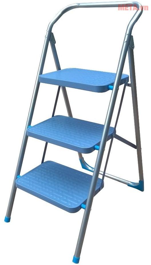 Thang ghế 3 bậc Advindeq ADS503 với bản bậc thang rộng.