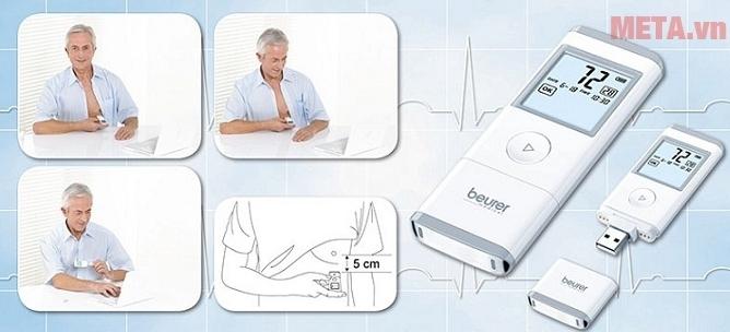 Máy đo điện tâm đồ Beurer ME90 giúp bạn theo dõi chức năng tim mạch.