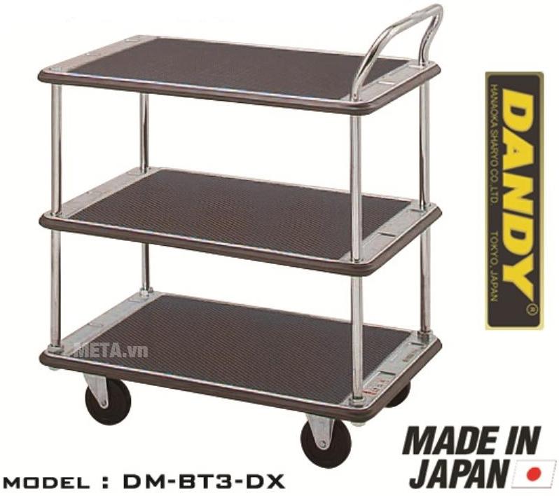 Xe đẩy hàng Nhật Bản 3 tầng Dandy DM-BT3-DX với thiết kế 3 tầng hiện đại.