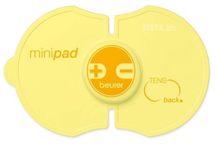 Máy massage xung điện Mini Back Beurer EM10 với kiểu dáng nhỏ gọn.