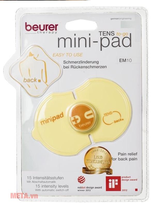 Máy massage xung điện Mini Back Beurer EM10 chỉ sử dụng 1 pin 3V.