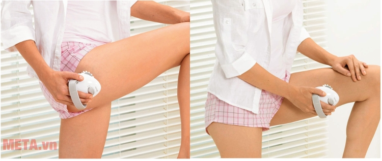 Máy massage cầm tay Beurer CM50 có tác dụng làm săn chắc vùng da bắp chân.