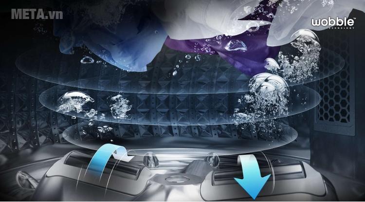 Máy giặt Samsung WA90J5710SG 9kg sử dụng công nghệ giặt hiện đại.