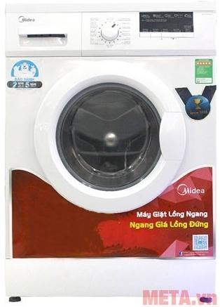 Máy giặt cửa trước 8kg Midea MFG80-1200 với màu trắng tinh tế.