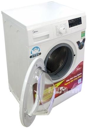 Máy giặt cửa trước 9 kg Midea MFG90-1200 được thiết kế lồng giặt ngang tiện dụng.