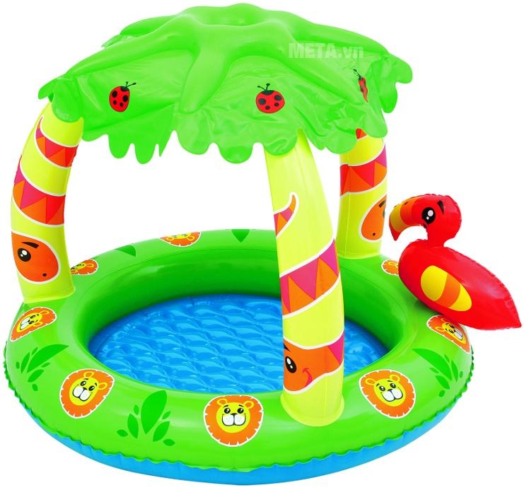 Bể bơi có mái che Bestway 52179 được thiết kế màu sắc bắt mắt.