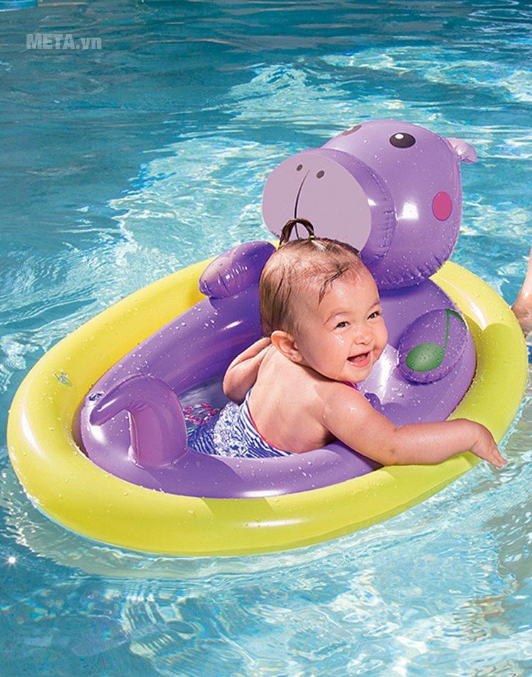 Phao bơi hình con thú chống lật Bestway 34058 giúp bé chơi đùa thật vui.