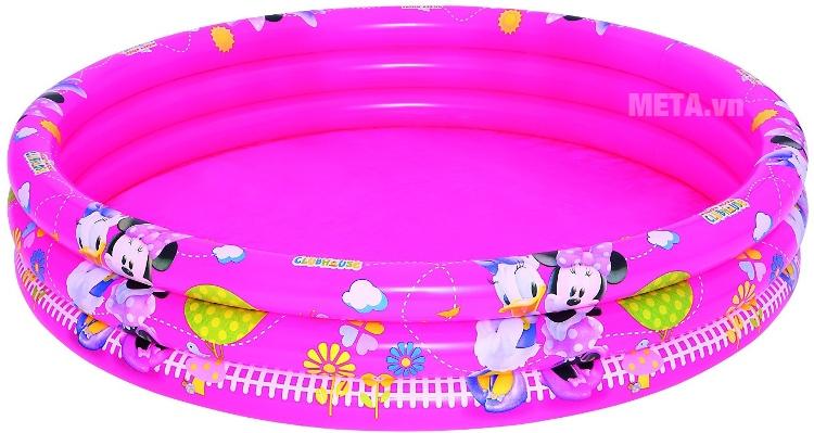 Bể phao bơi 3 tầng hình Micky Bestway 91036 với kích thước bể lớn.
