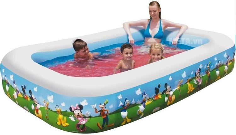 Bể phao gia đình hình Micky Bestway 91008 giúp cả gia đình tắm mát.