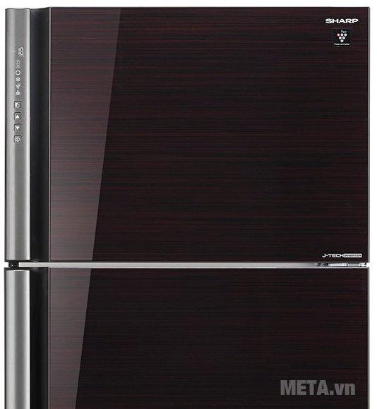 Tủ lạnh 627 lít Sharp SJ-XP630PG-BK có thiết kế mặt gương sang trọng