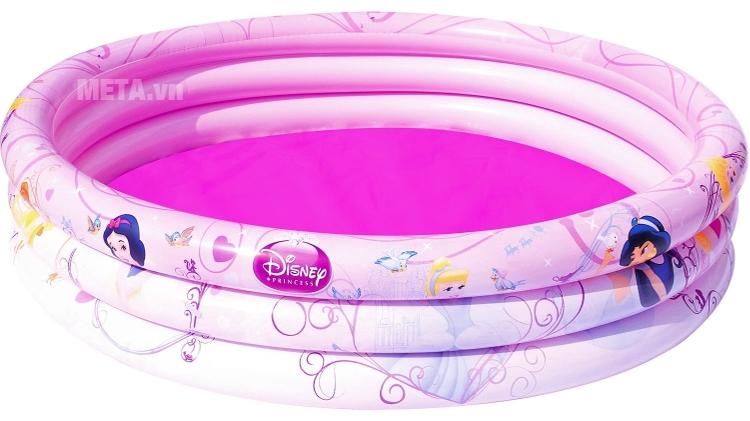 Bể phao bơi 3 tầng hình công chúa Bestway 91047 với thiết kế dễ thương.