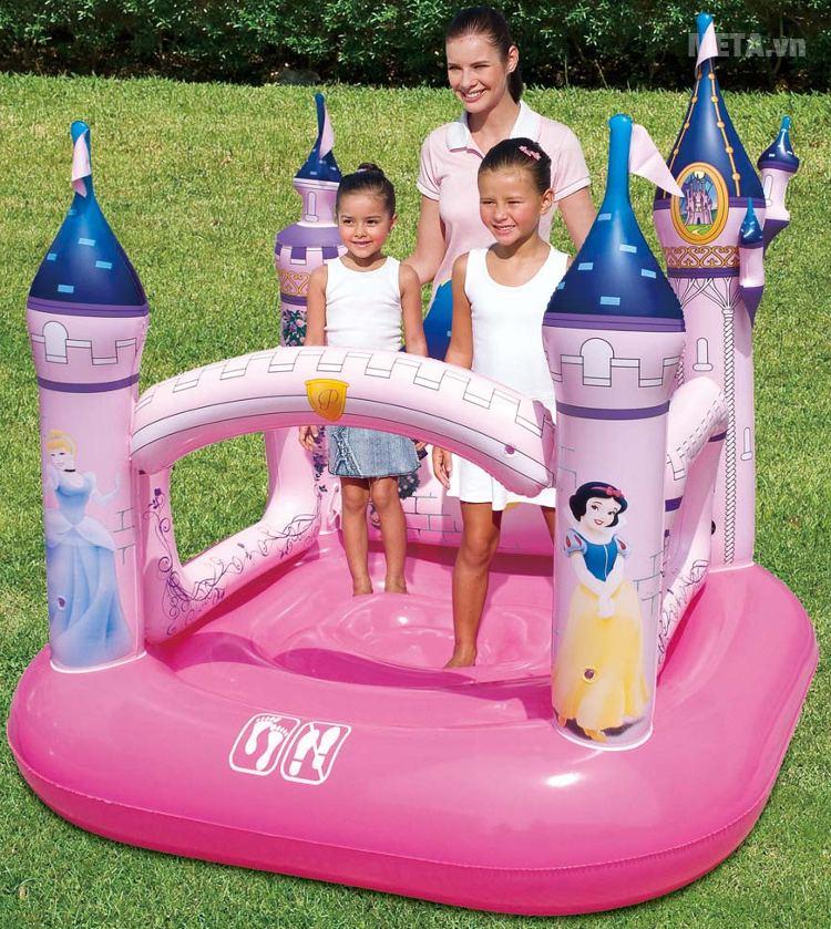 Nhà chơi phao lâu đài công chúa Bestway 91050 dành cho trẻ từ 3 đến 6 tuổi.