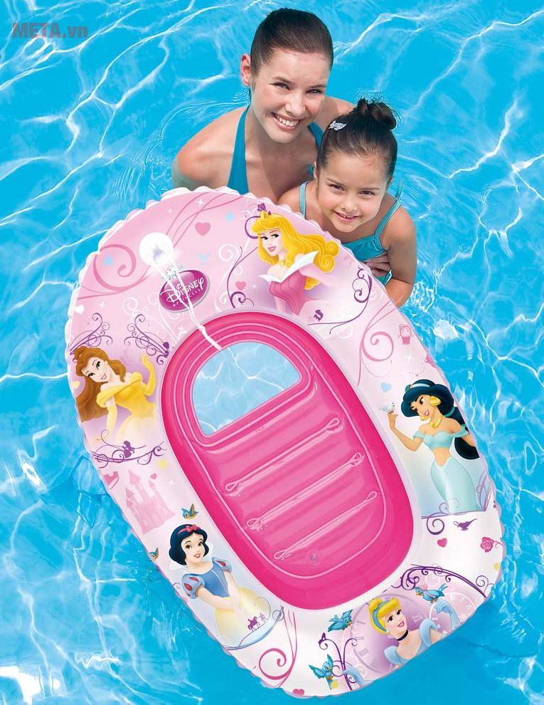 Thuyền phao hình công chúa Bestway 91044 an toàn cho trẻ.