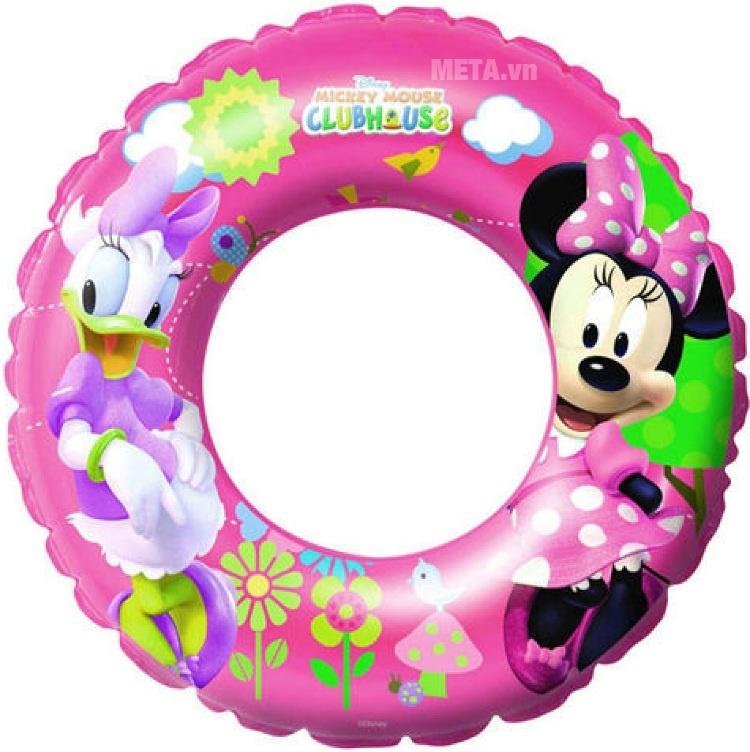 Phao bơi hình Micky Bestway 91023 với màu hồng dễ thương.