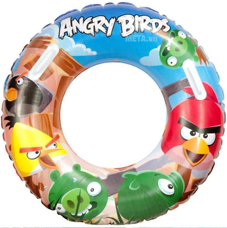 Phao bơi Angrybird Bestway 96103 dành cho trẻ từ 10 tuổi trở lên.