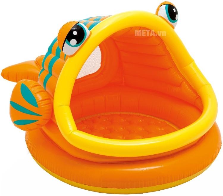 Bể bơi phao mái che cá trê INTEX 57109 với thiết kế ngộ nghĩnh.