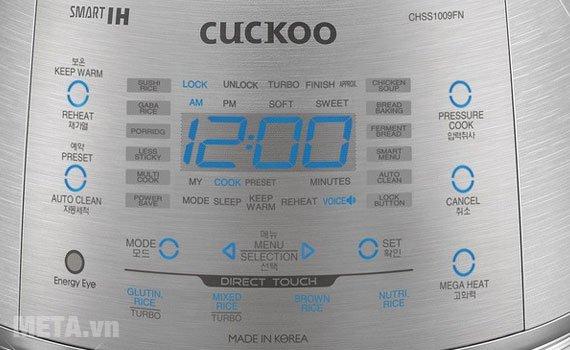 Nồi cơm điện Cuckoo 1,8 lít CRP-CHSS1009FN được trang bị bảng điều khiển điện tử dễ sử dụng
