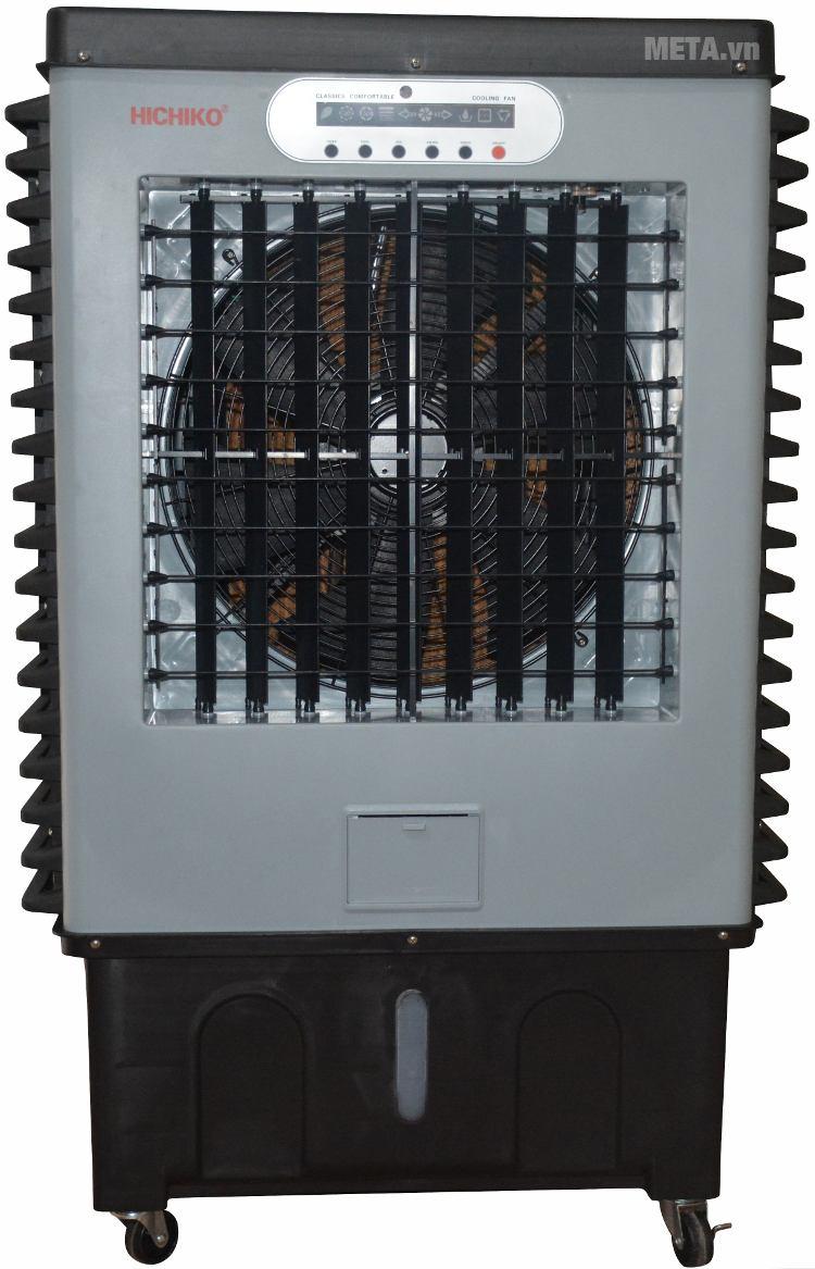 Máy làm mát Hichiko HC-6161 với thiết kế màu đen cá tính.
